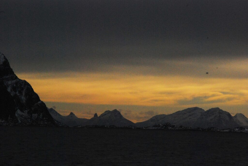 Paysage matinal des Lofoten