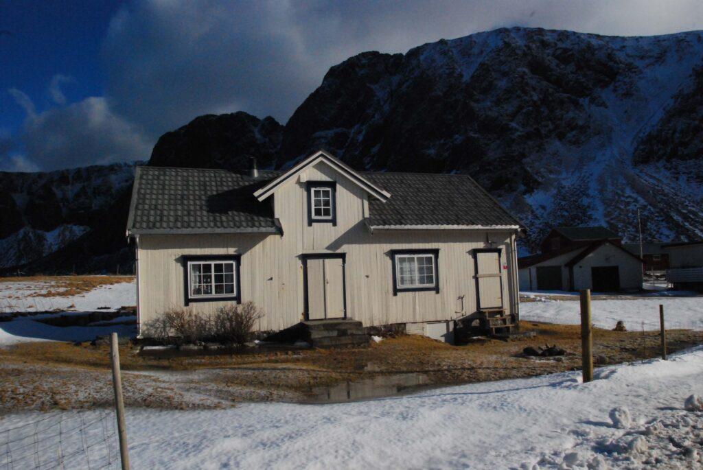 Une maison à Unstad