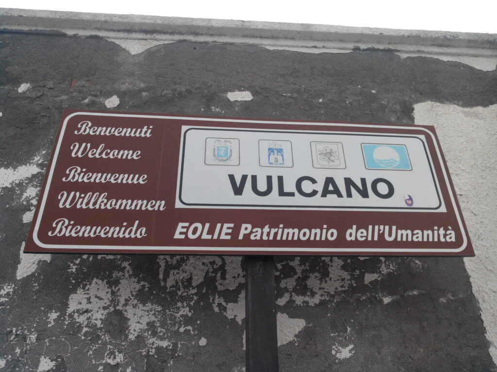 Panneau à Vulcano