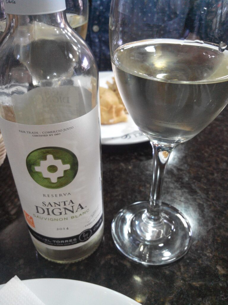 Vino bianco chileno