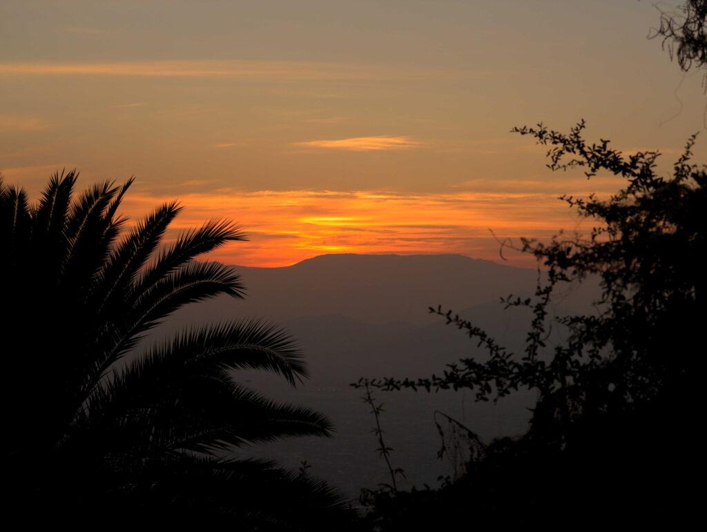 coucher de soleil Santiago