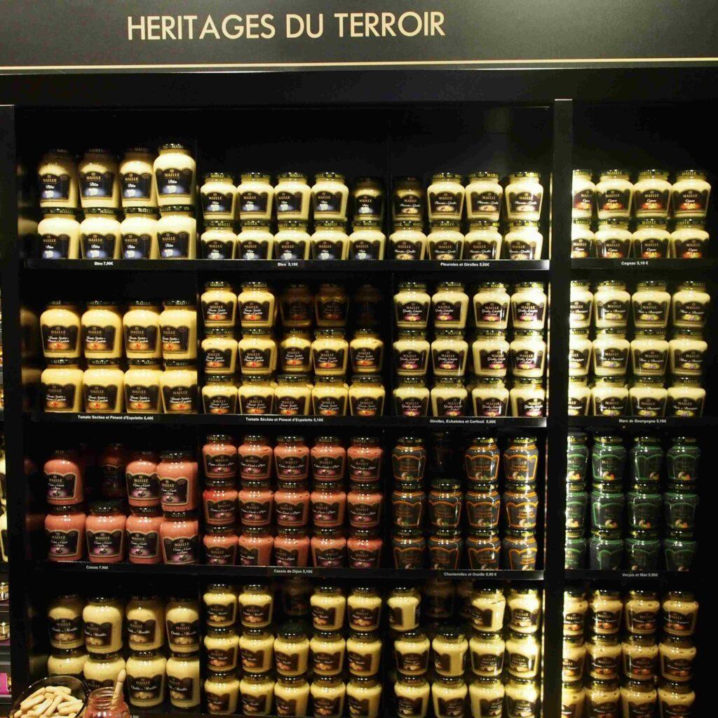 Le choix des moutardes à Dijon