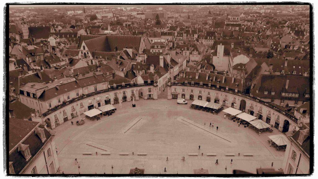 Vue aérienne de Dijon
