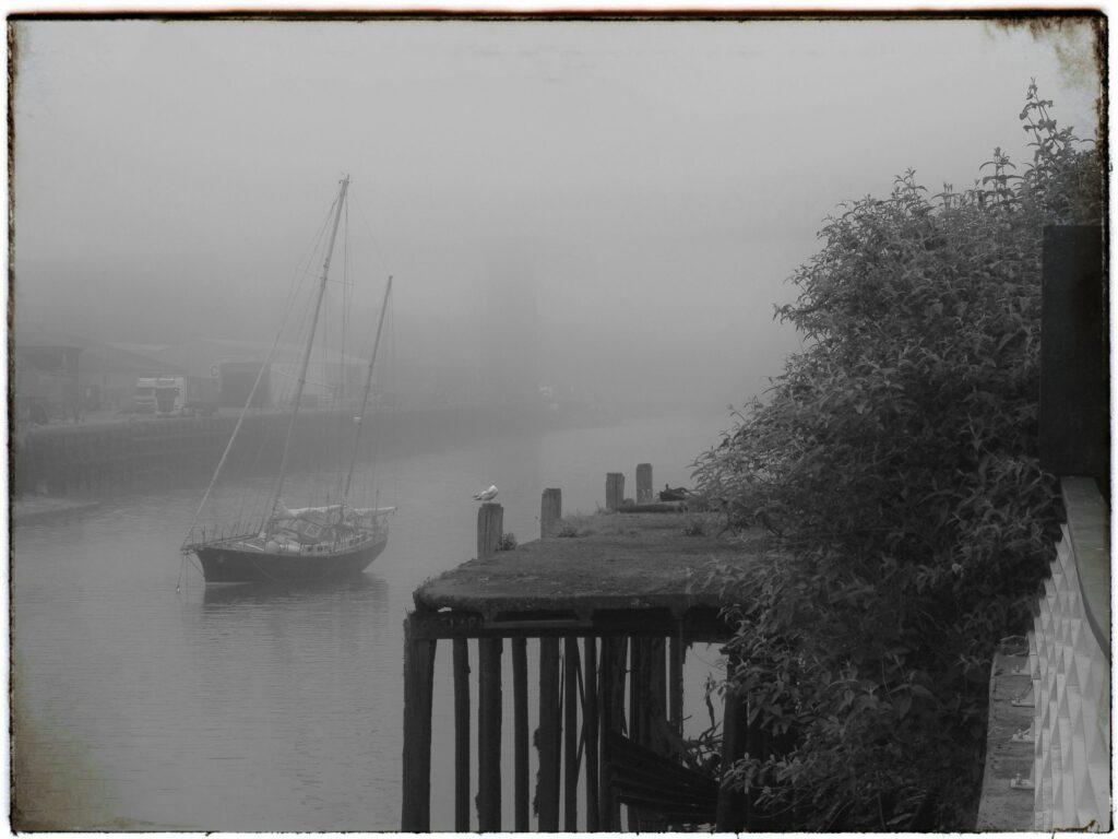 le brouillard matinal à Drogheda
