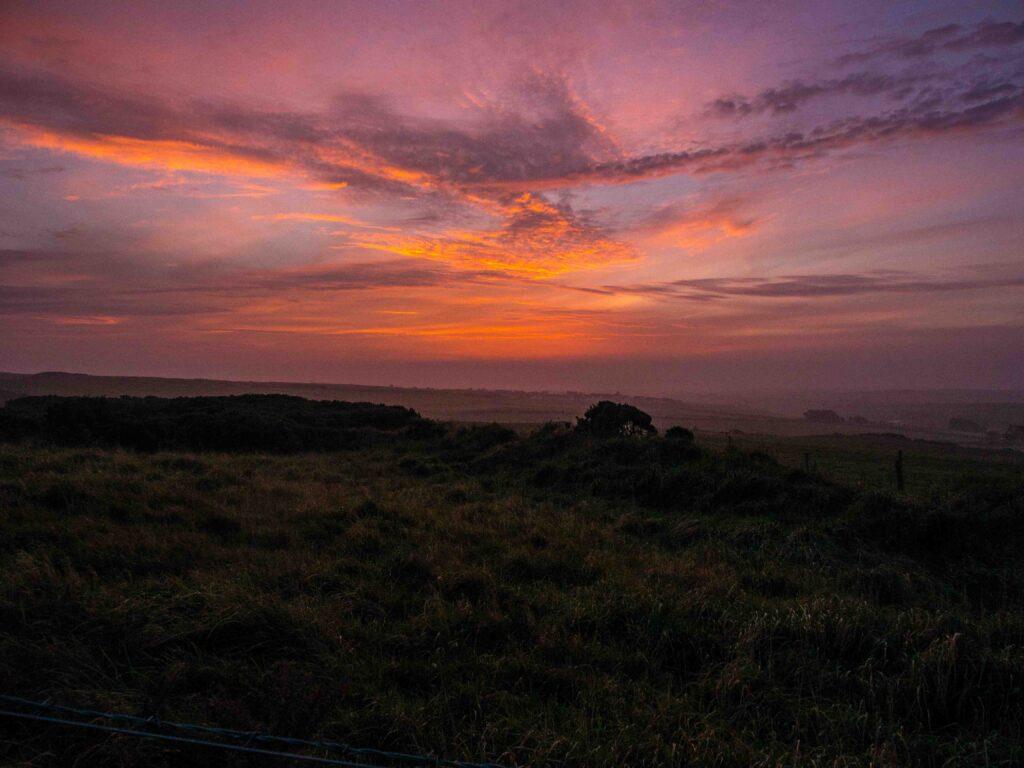 Un matin dans la campagne nord-irlandaise