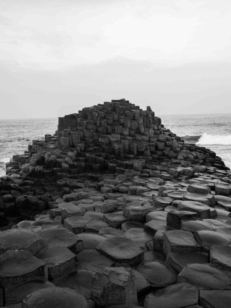 Détail des formations de basalte