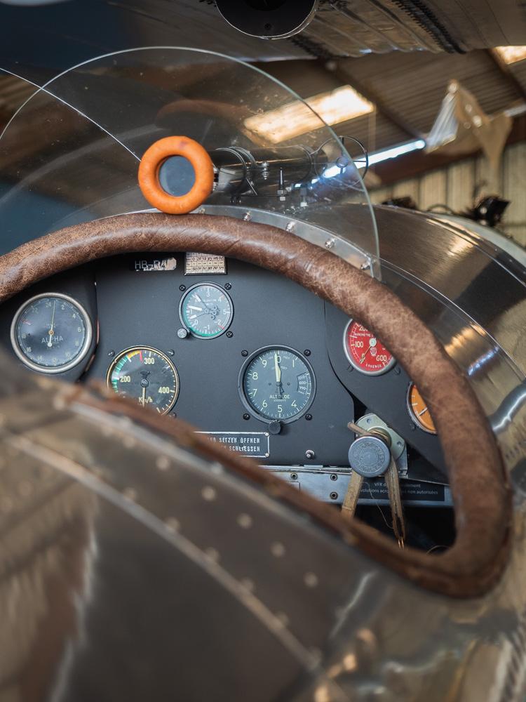 Détail d'un cockpit