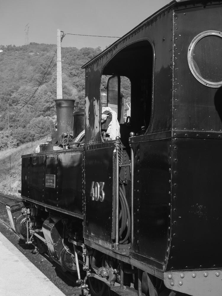 La locomotive du train de l'Ardèche