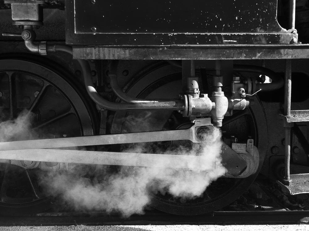 La vapeur de la locomotive