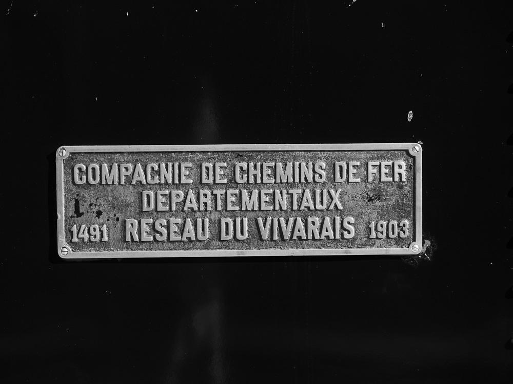 La plaque de la locomotive