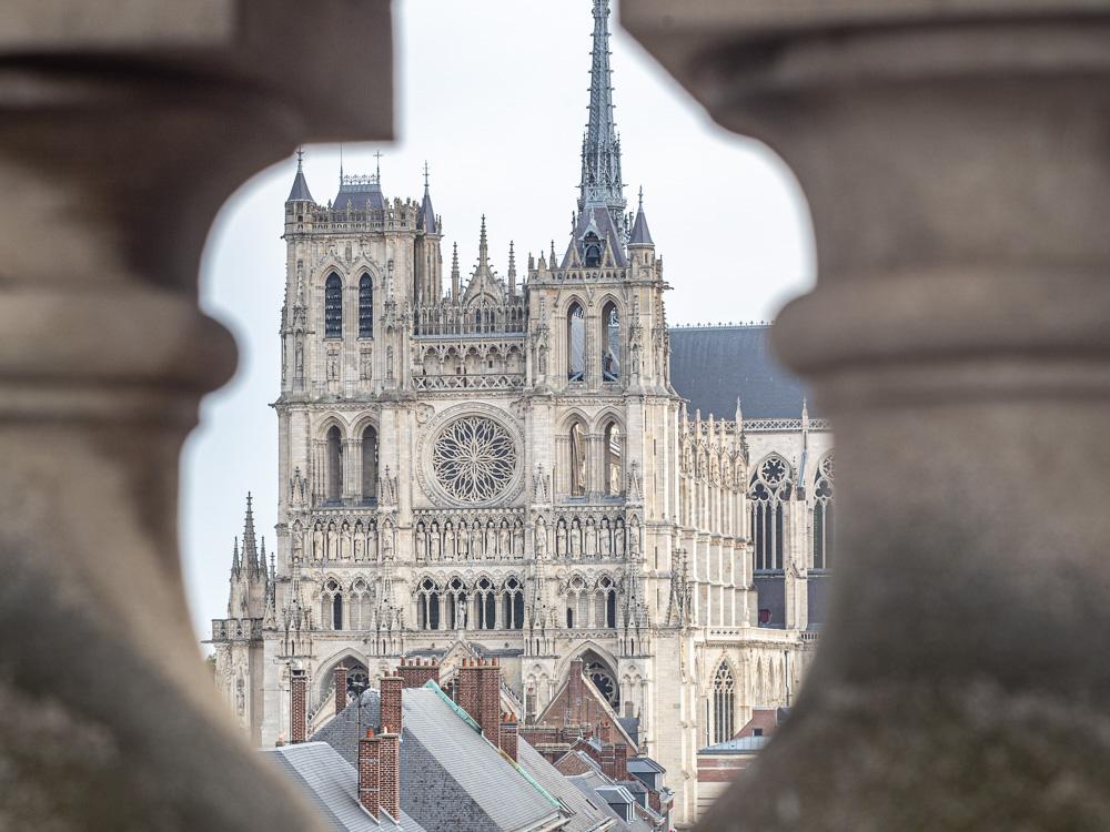 La cathedrale vue depuis le beffroi d'Amiens