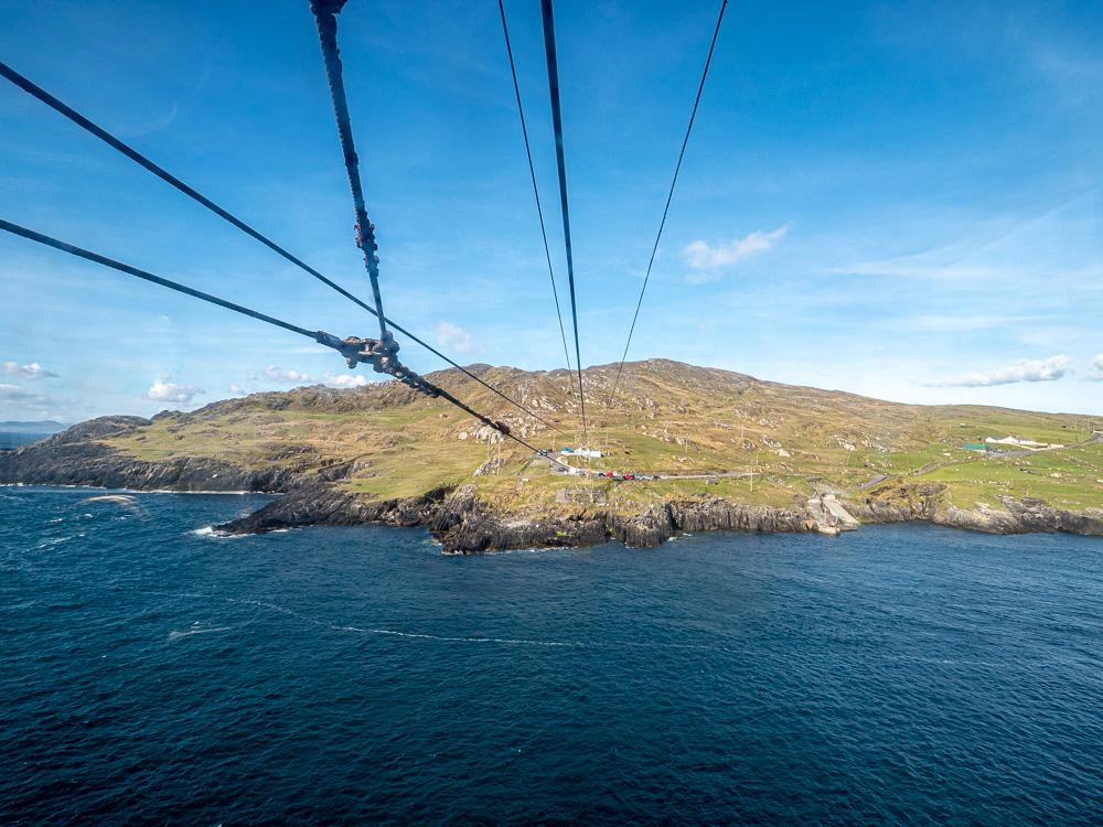 La vue depuis le téléphérique de Dursey Island