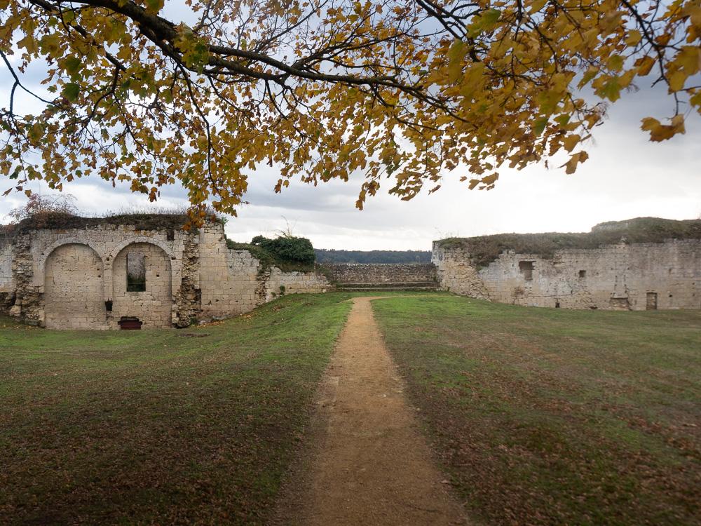 L'entrée du château de Coucy