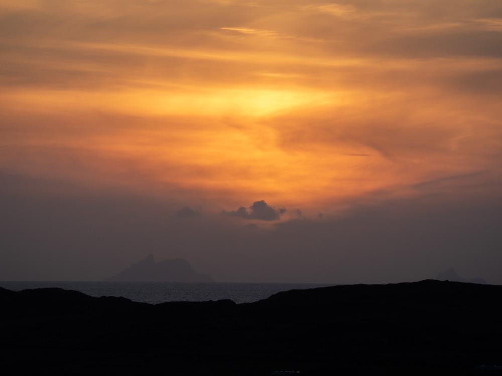Coucher de soleil sur les Skelligs
