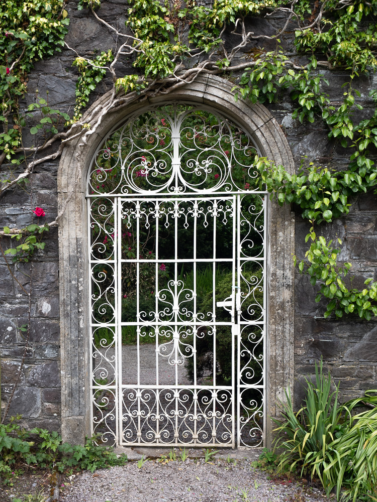 A door in the walled garden of Garnish Island