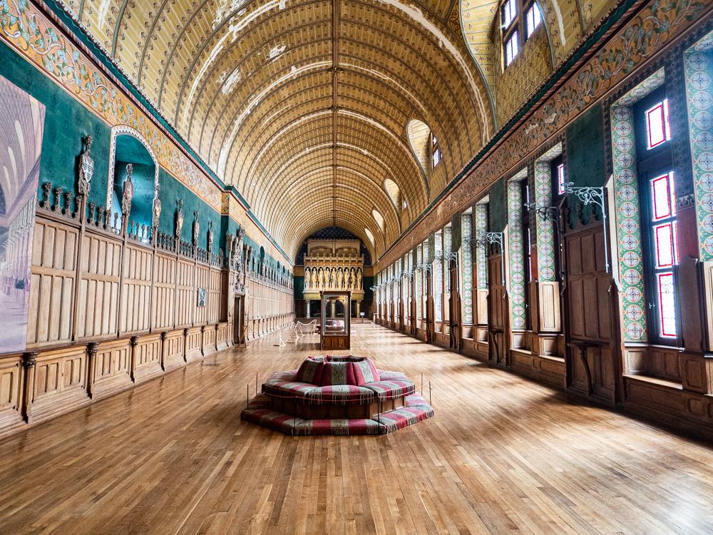 La galerie principale du château de Pierrefonds