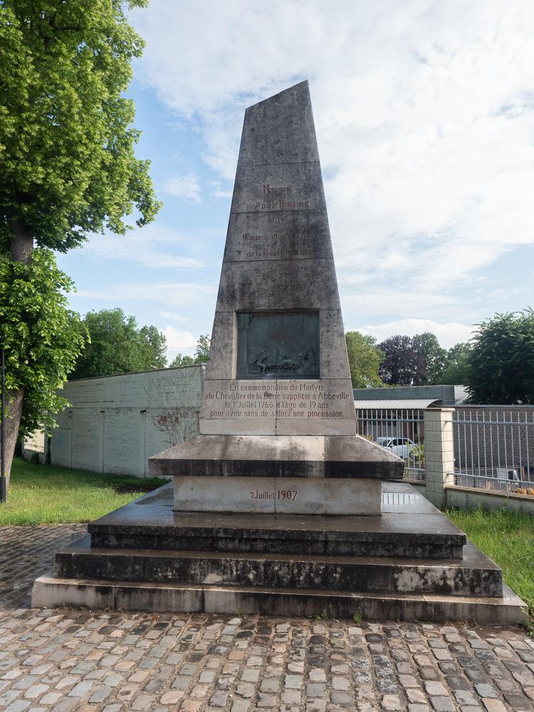Monument de la chevalier de la Barre à Abbeville