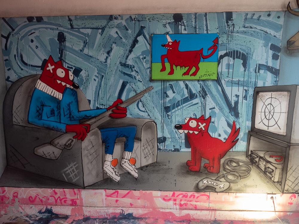 Oeuvre de street-art de Transition à Abbeville