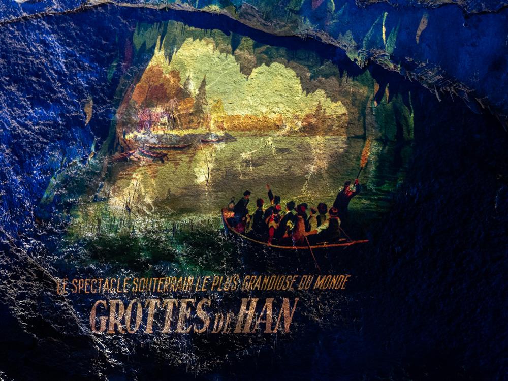 L'affiche des grottes de Han
